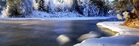 Dal River in winter, Dalarna Province, Sweden Fine-Art Print