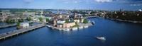 Aerial view of an island, Riddarholmen Island, Riddarfjarden, Stockholm, Sweden Fine-Art Print