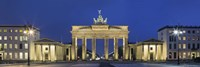 City gate lit up at night, Brandenburg Gate, Pariser Platz, Berlin, Germany Fine-Art Print