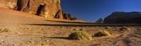 Rock formations in a desert, Wadi Um Ishrin, Wadi Rum, Jordan Fine-Art Print