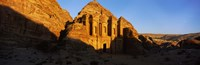 Deep shadows at the monastery, Al Deir Temple, Wadi Musa, Petra, Jordan Fine-Art Print