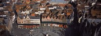 Aerial view of Marktplatz from the Belfry of Bruges, Bruges, Flanders, Belgium Fine-Art Print