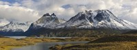 Clouds over snowcapped mountain, Grand Paine, Mt Almirante Nieto, Torres Del Paine National Park, Chile Fine-Art Print