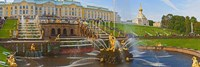 Grand Cascade fountain in front of the Peterhof Grand Palace, Petrodvorets, St. Petersburg, Russia Fine-Art Print