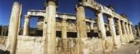 Close up of columns in ruins, Hierapolis at Pamukkale, Anatolia, Central Anatolia Region, Turkey Fine-Art Print