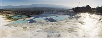 Hot springs and Travertine Pool with Cloudy Sky, Pamukkale, Turkey Fine-Art Print