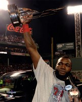 David Ortiz with the 2013 World Series MVP Trophy Game 6 of the 2013 World Series Fine-Art Print