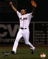 Koji Uehara celebrates winning Game 6 of the 2013 World Series Fine-Art Print