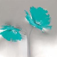 Aqua Platinum Petals II Fine-Art Print