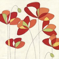 Poppy Field Square II Fine-Art Print