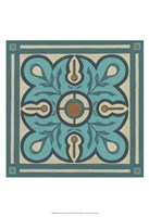 Piazza Tile in Blue III Fine-Art Print