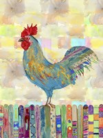 Rooster on a Fence II Fine-Art Print