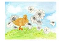 Duck & Flowers Fine-Art Print