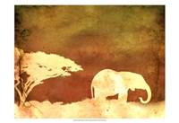 Safari Sunrise I Fine-Art Print