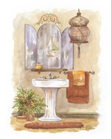 Watercolor Bath in Spice I Fine-Art Print