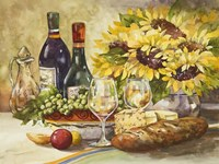 Wine & Sunflowers Fine-Art Print