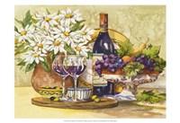 Wine & Daisies Framed Print