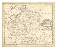 Map of Poland Fine-Art Print