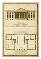 Vintage Building & Plan II Fine-Art Print