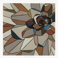 Stained Glass Floral I Fine-Art Print