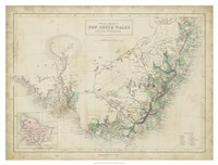 Map of New South Wales Fine-Art Print