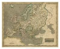 Thomson's Map of Europe Fine-Art Print