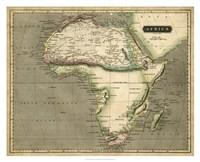 Thomson's Map of Africa Fine-Art Print