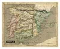 Thomson's Map of Spain & Portugal Fine-Art Print
