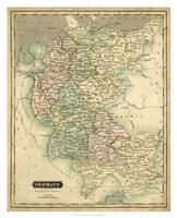 Thomson's Map of Germany Fine-Art Print