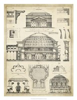 Vintage Architect's Plan III Fine-Art Print