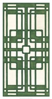 Non-Embellished Emerald Deco Panel I Fine-Art Print