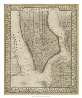 Plan of New York Fine-Art Print