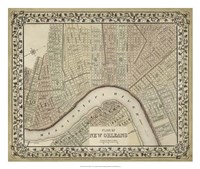 Plan of New Orleans Fine-Art Print