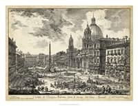 Veduta di Piazza Navona Fine-Art Print