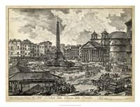 Veduta della Piazza della Rotunda Fine-Art Print