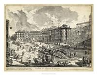 Veduta di Piazza di Spagna Fine-Art Print