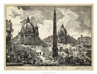 Veduta della Piazza del Popolo Fine-Art Print