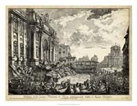 Veduta della Vasta Fontana di Trevi Fine-Art Print