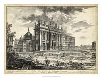Veduta della Basilica di S. Giovanni Laterano Fine-Art Print