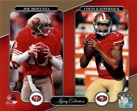 Joe Montana & Colin Kaepernick Legacy Collection Fine-Art Print