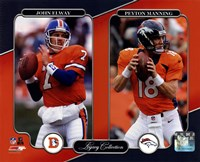 John Elway & Peyton Manning Legacy Collection Fine-Art Print