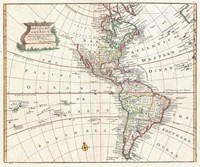 1747 Bowen Map of North America and South America Fine-Art Print