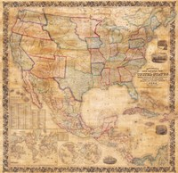 1856 Mitchell Wall Map of the United States and North America Fine-Art Print
