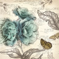 Blooming Teal II - Mini Fine-Art Print