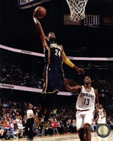 Paul George 2013-14 dunking the ball Fine-Art Print