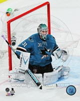 Antti Niemi Hockey Goal Blocking Fine-Art Print