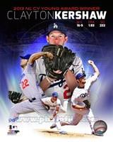 Clayton Kershaw 2013 National League Cy Young Winner Portrait Plus Fine-Art Print