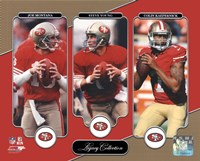 Joe Montana, Steve Young, & Colin Kaepernick Legacy Collection Fine-Art Print