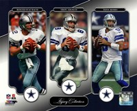 Roger Staubach, Troy Aikman, & Tony Romo Legacy Collection Fine-Art Print