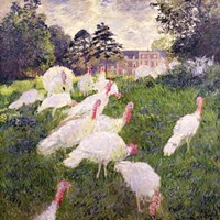 The Turkeys at the Chateau de Rottembourg, Montgeron, 1877 Fine-Art Print